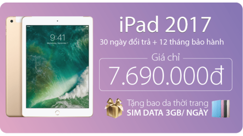 iPad 2017 32Gb Cũ (4G + Wifi)